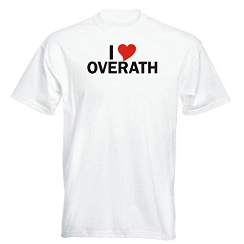 T-Shirt - i Love Overath - Herren - unisex Weiß
