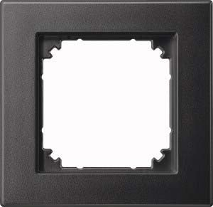 Preisvergleich Produktbild Merten M-PLAN II-Rahmen, 1 fach, bündiger Einbau, anthrazit, 488114