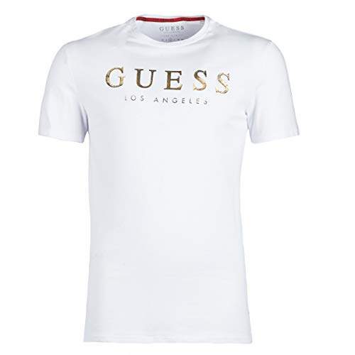 Guess Showy T-Shirts & Poloshirts Herren Weiss - S - T-Shirts