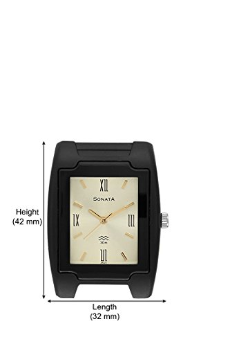 Sonata Analog Champagne Dial Men's Watch - NF7920PP12J