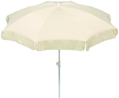 Schneider Sonnenschirm Ibiza, natur, 200 cm rund, Gestell Stahl, Bespannung Polyester, 2.1 kg