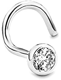 Amor Damen-Nasenstecker 925 Sterling Silber rhodiniert Zirkonia weiß 89111