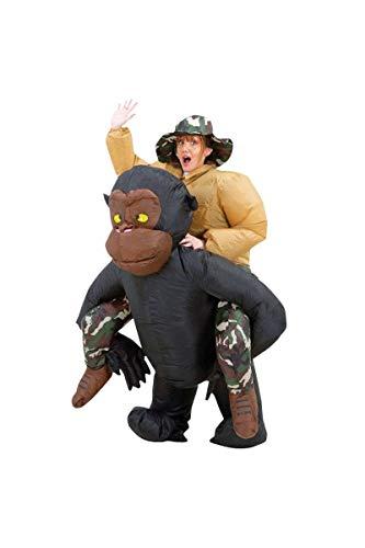 Original Cup-déguisement hinchable Mono, unisex adulto, cos-monkey, talla única