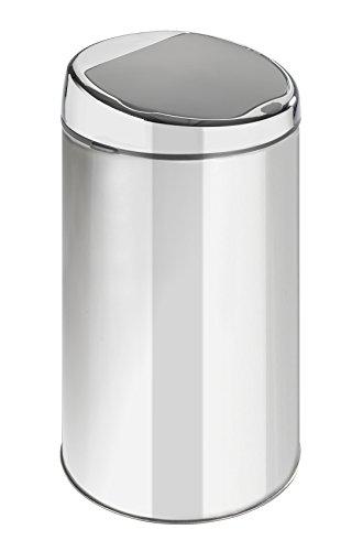 Wenko Cubo de Basura 22446100 con Sensor de Movimiento, Capacidad de 6litros, de Acero Inoxidable, Brillante, 19,5x 19,5x 35,5cm