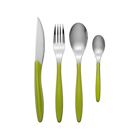 Swan Oslo 24-Piece Cutlery Set, Stainless Steel, Green