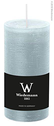 8x Wiedemann Marble Kerze durchgefärbt, Stumpenkerzen mit Durchbrandschutz (ASF) 120/58mm (Eisblau)