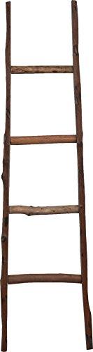 Scala in legno decorativa - Portasciugamani - Ideale per Bagno, Camera e altri ambienti - 40x8x150 cm