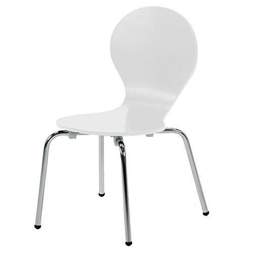 lounge-zone Kinderstuhl Designklassiker Kinder Kinderzimmer Moritz in weiß verchromte Beine stapelbar 809