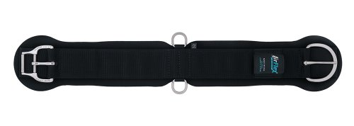 Weaver Leather Airflex Roper Cinch with New And Improved Roll Snug Cinch Buckle, 35-2410-36, Nero, 91,5 cm