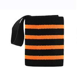 RTGFS Erwachsene Camo Handgelenkstütze Armbänder Männer Schwarz Sport Armband Tennis Hand Wrap Handgelenkschutz PaarOrange Vier Streifen