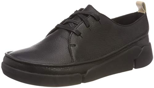 Clarks Damen Tri Clara Derbys, Schwarz (Black Leather), 38 EU