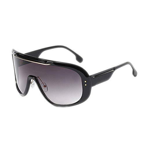 WERERT Sportbrille Sonnenbrillen Oversized Cover One Piece Goggle Sunglasses Women Fashion Big Frame Men Gradient Windproof Shades Metal