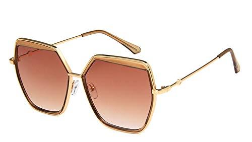 Lafeil Damen Sonnenbrille Damen Herren Sonnenbrille Vintage Retro Groß Fahrradbrille Braun