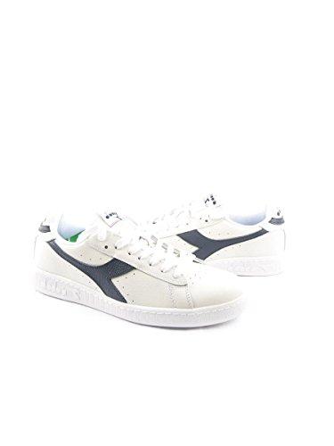 Diadora Game L Low, Chaussures de Gymnastique Homme C6312 BIANCO-BLU MAR CASPIO
