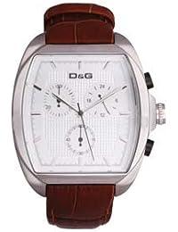 D & G dw0428Gents–'Martin' marrón correa reloj cronógrafo: Gran Regalo