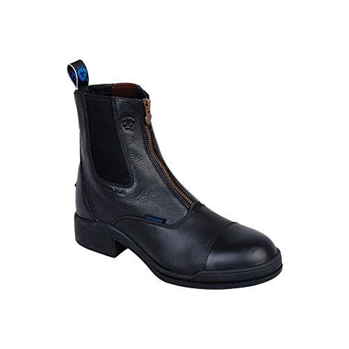 Ariat Damen Stiefelette Heritage II Zip Steel Toe Cap (mit Reißverschluß vorne), schwarz, 5 (38)