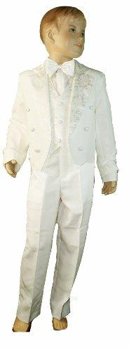 ben Schwanz Rückseite 5-teiliges SMOKING-inklusive Weste, Jacke mit Schwänzen, Hosen, Fliege & Shirt elfenbeinfarben/cremefarben 3 Monate ()