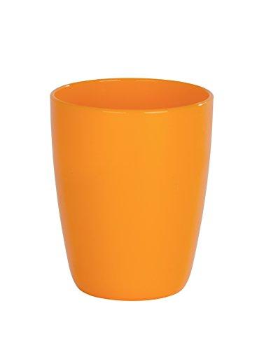 Orange Zahnbürstenhalter (WENKO Zahnputzbecher Cocktail Orange - Zahnbürstenhalter für Zahnbürste und Zahnpasta, Polystyrol, 8 x 10 x 8 cm, orange)