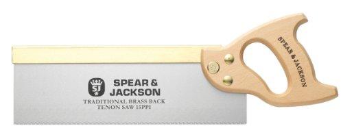 """Spear & Jackson 9550B Traditional Zapfensäge mit Messingverstärkung 12"""" x 15 ppi"""