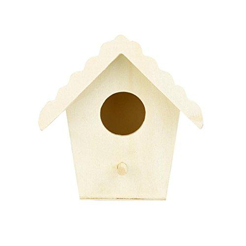 Gusspower Mini Casa de Pájaros Montado en la Pared Nido de pájaro de Madera al Aire Libre 5 Formas para Elegir (D)