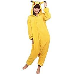 Keral Kigurumi Pijamas Adulto Anime Cosplay de Halloween Traje Outfit Pikachu Large