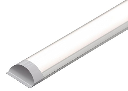 LED Batten Slimline Profil breit Tube Wand- und Deckenleuchte 5ft 1500x 75x 24mm 45W ersetzt 160W Lebensdauer 40000h Warm Weiß 3000K Helligkeit 4500LM - 5' Wand