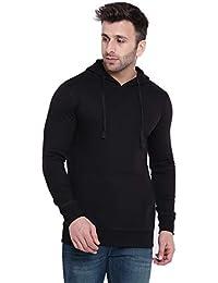 GRITSTONES Full Sleeves Cotton Fleece Hooded Sweatshirt with Kangaroo Pocket GSFSSWTSHT2239-P