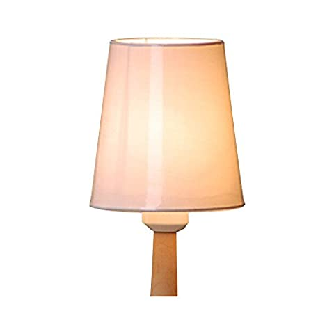 Eastlion Einfache moderne manuelle Stoff Lampenschirm für Kristallkerze Kronleuchter, Wandleuchte, Tischleuchte mit Wave-Brim E27 Lampenschirm 11x15x16cm (Kronleuchter Mit Lampenschirm)