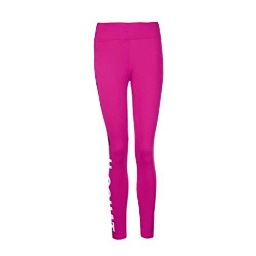 Pantalon de Sports,Tonwalk Femmes Mode Faire des exercices leggings Fitness/Sports/Fonctionnement/Yoga Pantalons athlétiques Rose vif