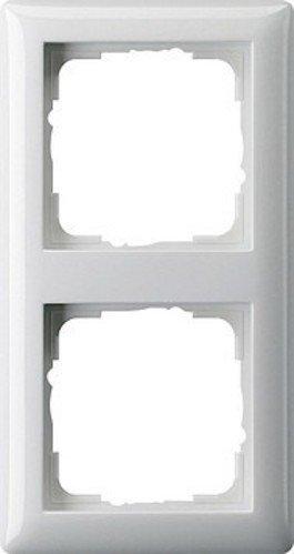 Gira Rahmen 021203 2fach Standard 55 reinweiss - Se Billig 3 Serie
