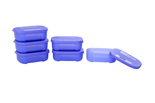 Signoraware Icy Cool Container Set, 140ml, Set of 6, Deep Violet  available at amazon for Rs.349