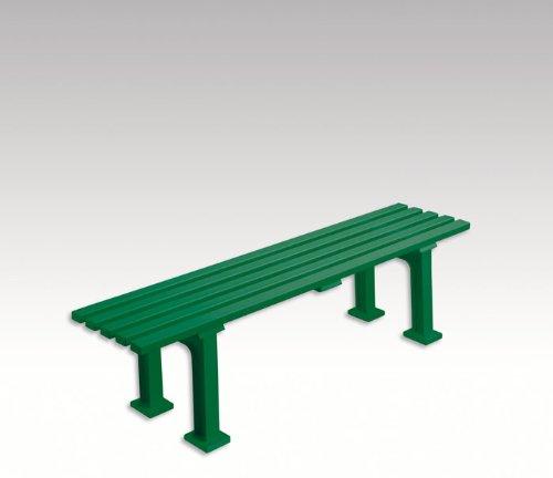 Gartenbank, Parkbank, Bank aus Kunststoff, ohne Lehne, grün, 150 cm