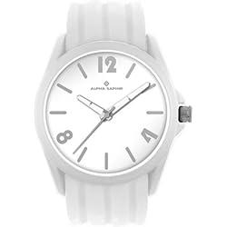 Clock-Analogue Quartz-Plastic Silicone-White