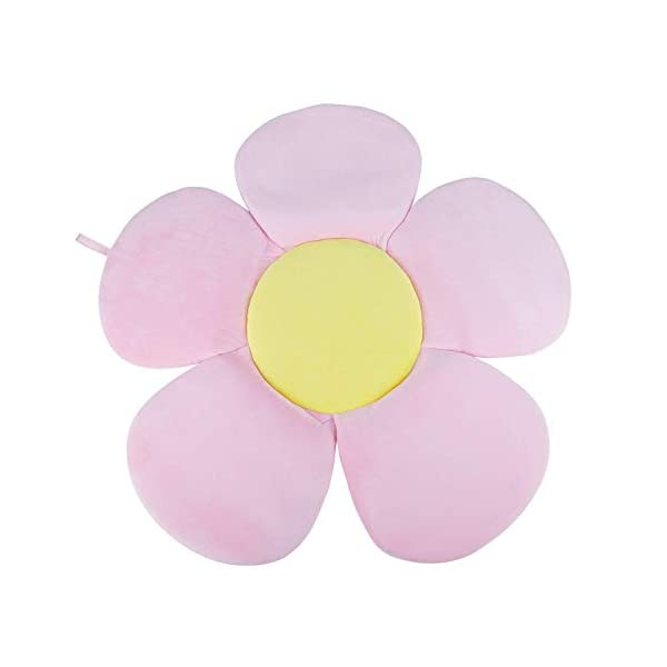 SODIAL Multifunction Baby Bath Tub Newborn Foldable Blooming Flower Shape Mat Soft Blanket Infant Bathtub Seat Sunflower Cushion Mat 1