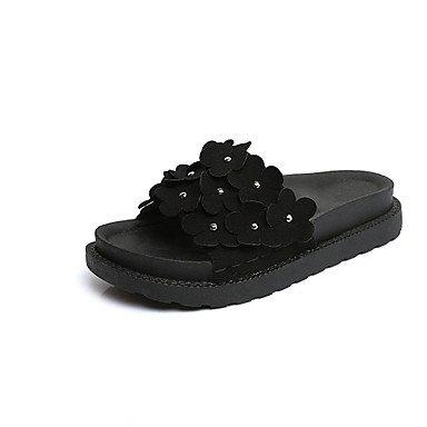 Zormey Damen Sandalen Feder Komfort Pu Casual Flachem Absatz US7.5 / EU38 / UK5.5 / CN38