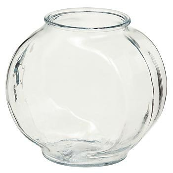 Anchor Hocking Classic Drum Style Fish Bowl Heavy Crystal Clear Glass 1/2Gallon -