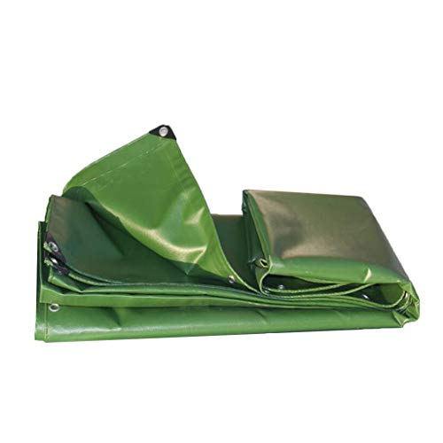 TANG CHAO Resistente A La Intemperie Lona Gruesa Impermeabilizante Antienvejecimiento Sombrilla Funda De Tela PVC Verde del Ejército (Tamaño : 2 * 2m)