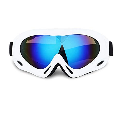 Epinki Kinder TPU+PC Snowboardbrille Outdoor Schutz Brille Schneebrille Winddicht Schutzbrillen Skibrille Wintersport Brille für Skifahren Schneemobil Skaten, Weiß