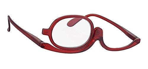 Lesebrille RF900FC25 A-Urban Damen Schminkbrille - Make up Brille. in + 2.50 Dioptrie 2 5 - Farbe transp. rot