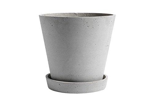 HAY - Blumentopf mit Untersetzer - Grau - XL