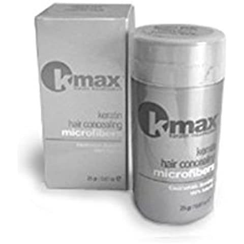 K-Max 25 G NEGRO Polvo de Cabello 100% Natural - Aporta de Volumen, Disimula la alopecia