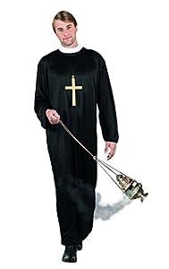 Boland 83815-Adultos Disfraz Sacerdote, Negro