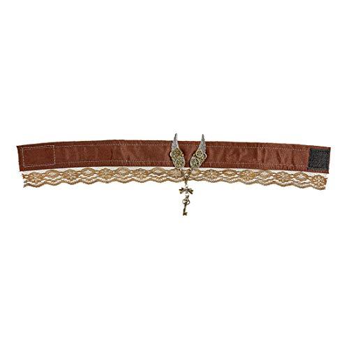 Amakando Edle Halskette Steam Punk / Braun-Gold / Collier viktorianisches Kropfband / Genau richtig zu Fasching & Karneval