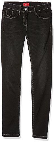 s.Oliver Mädchen Jeans 66.708.71.2951, Grau (Grey/Black Denim Stretch 98Z7), 140 (Herstellergröße: 140/REG)