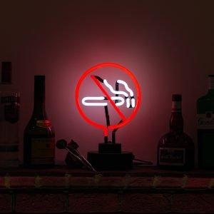 Icon Neon No Smoking Echte Neon Beleuchtung Skulptur, mehrfarbig
