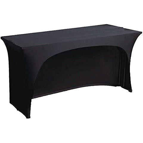 Negro elástico spandex para mantel para 121,92cm pie mesa 1lado en forma de arco. DJ Buffet