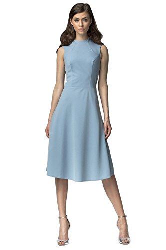 Nife - Robe - Sans Manche - Femme Bleu