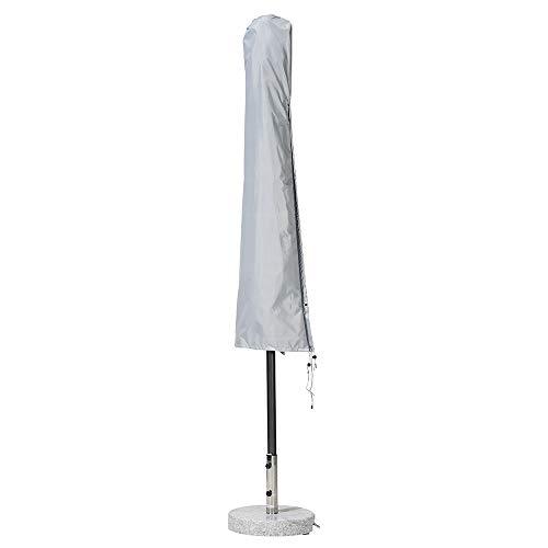Premium Plus Leicht Schutzhülle für Sonnenschirm - Durchmesser 200 bis 300 cm_wasserdicht, Winterfest, atmungsaktiv