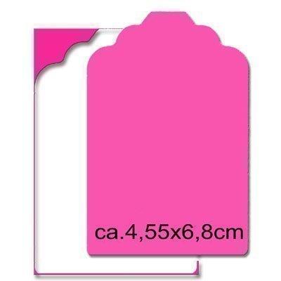 EFCO Label, Rosa, 3X Große, 68x 45mm