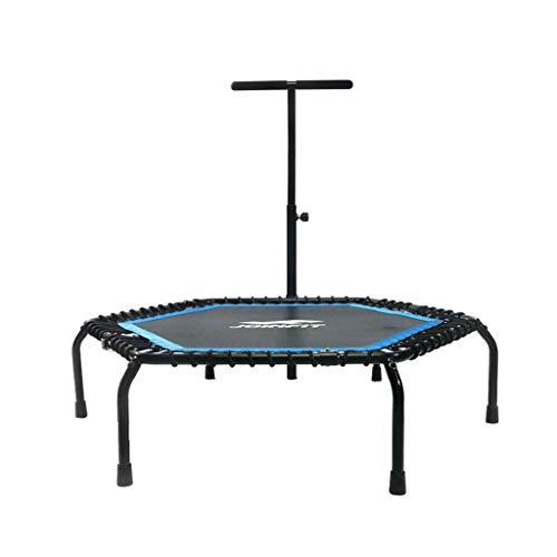 Trampolini elastici per interni trampolino elastico fitness trampolino super salto training mini trampolino professionale con manico elastico (color : black, size : 135 * 135 * 31cm)